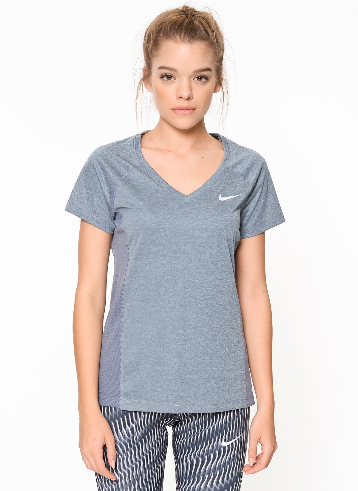 Shirt Miler T Nike Nk Dry Neck 831528 Womens V Top qw8tP0